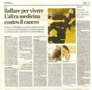 Contro il cancro ballare per vivere - Eco di Bergamo 2015